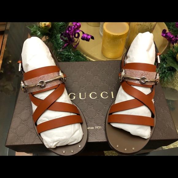 20de4dc3bac Gucci Horsebit Leather Sandals Style 370230 sz 36